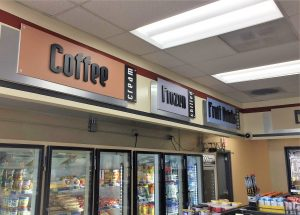 Gas Station Signs indoor retail custom dimensional letter signs 300x215